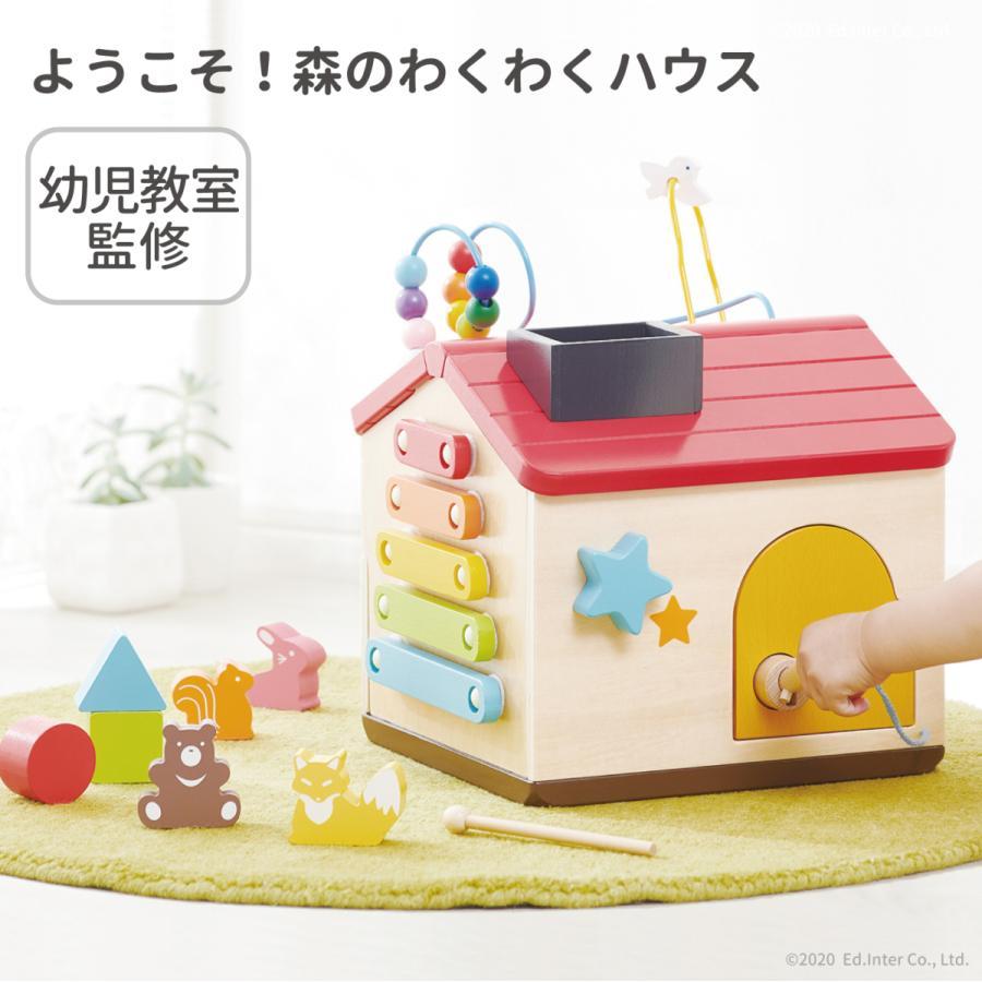 『ようこそ!森のわくわくハウス』出産祝い 木のおもちゃ はじめてのおもちゃ 知育玩具 誕生日プレゼント 男の子 女の子[a31310254]|littlegenius