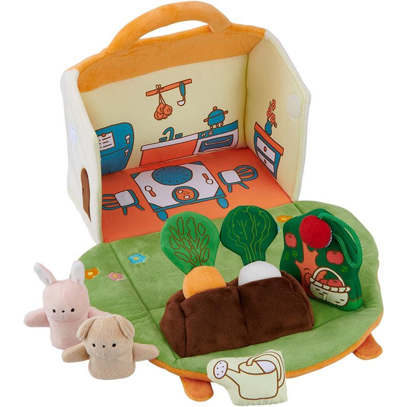 『ふわふわガーデンハウス』出産祝い 布のおもちゃ はじめてのおもちゃ 知育玩具 誕生日プレゼント 男の子 女の子 長く遊べる[a31310255]|littlegenius|02