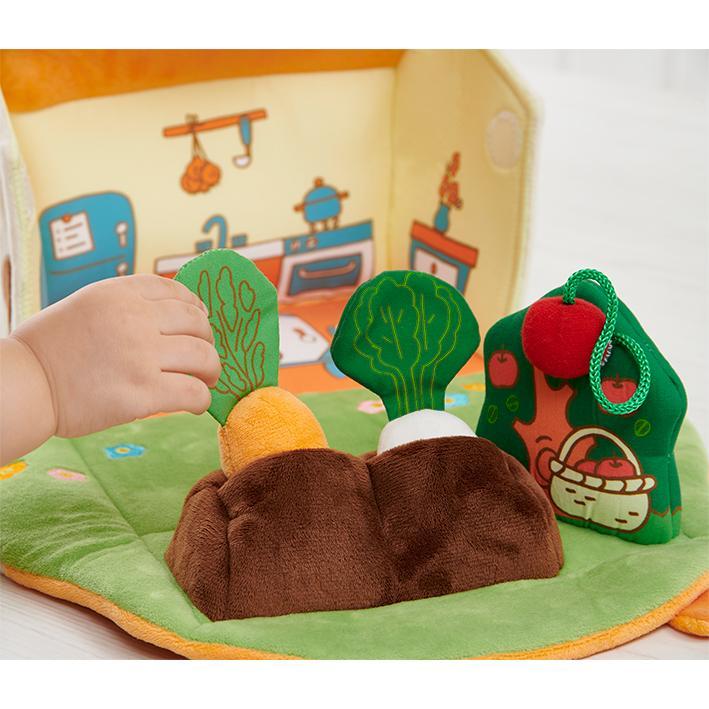 『ふわふわガーデンハウス』出産祝い 布のおもちゃ はじめてのおもちゃ 知育玩具 誕生日プレゼント 男の子 女の子 長く遊べる[a31310255]|littlegenius|05