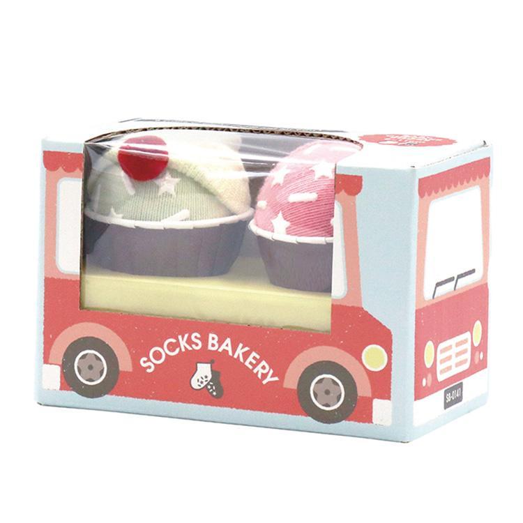『SOCKS BAKERY Sweet Cupcake-スウィートカップケーキ-』出産祝い 靴下 ベビーソックス 誕生日プレゼント[a3131026]|littlegenius