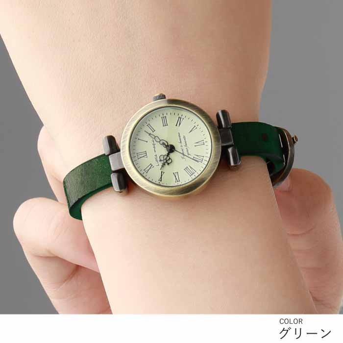 腕時計 レディース 可愛い リトルマジック 時計 おしゃれ 小さめ 1重巻き アンティーク 腕時計 本革 防水 人気 ブランド ブレスレット 腕時計 レディース 時計|littlemagic|10