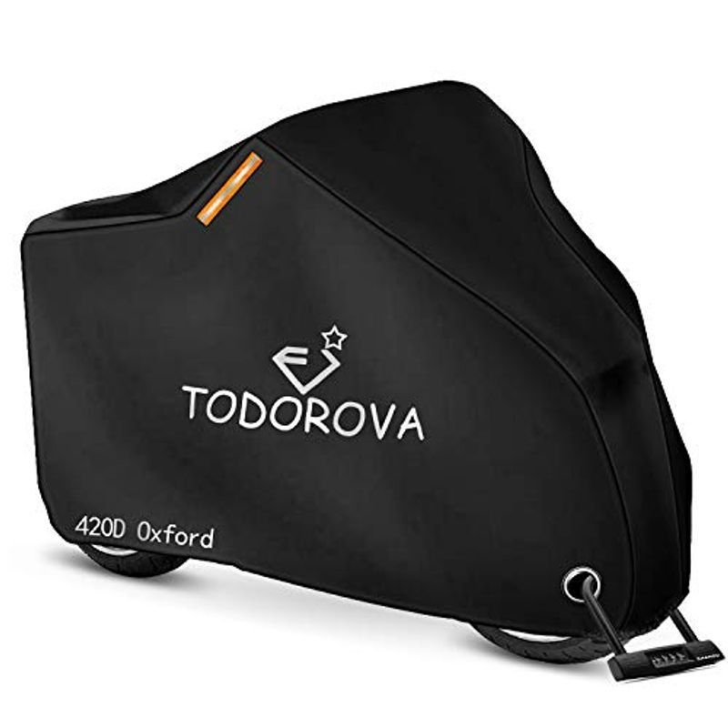 TODOROVA 自転車カバー 防水 420Dオックス製生地 厚手 自転車 盗難防止 買取 最 50UVカット モデル着用&注目アイテム カバー サイクルカバー 風飛び防止