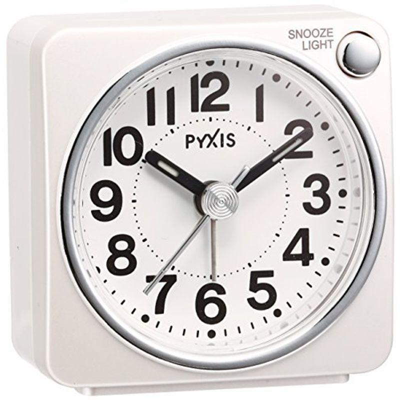 セイコー クロック 目覚まし時計 アナログ PYXIS パール SEIKO ピクシス お気にいる 白 出荷 NR437W