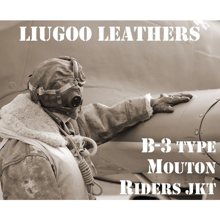 Liugoo Leathers 本革 B-3タイプライダース ムートンジャケット メンズ リューグーレザーズ SRYMT01|liugoo|02