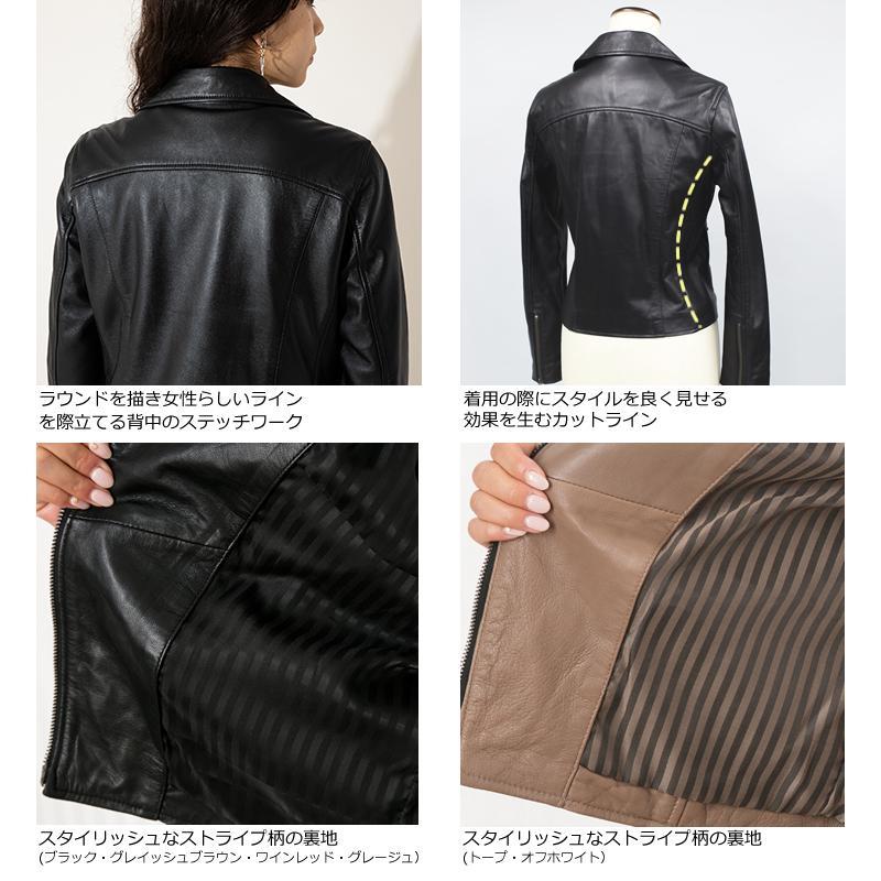 LIUGOO 本革 ダブルライダースジャケット レディース リューグー DRY02LB  レザージャケット 革ジャン liugoo 16