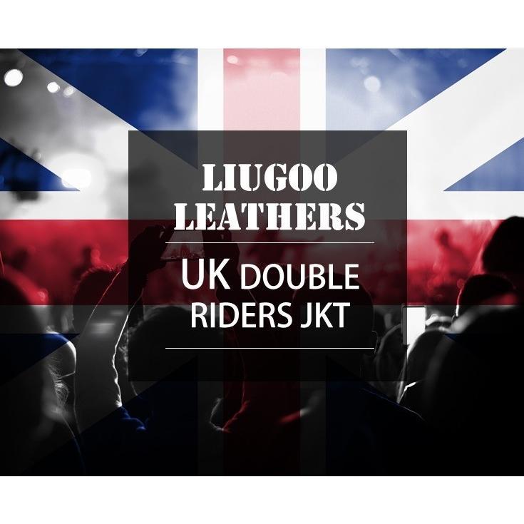 Liugoo Leathers 本革 UKダブルライダースジャケット メンズ リューグーレザーズ DRY02A  レザージャケット ライトニング|liugoo|02