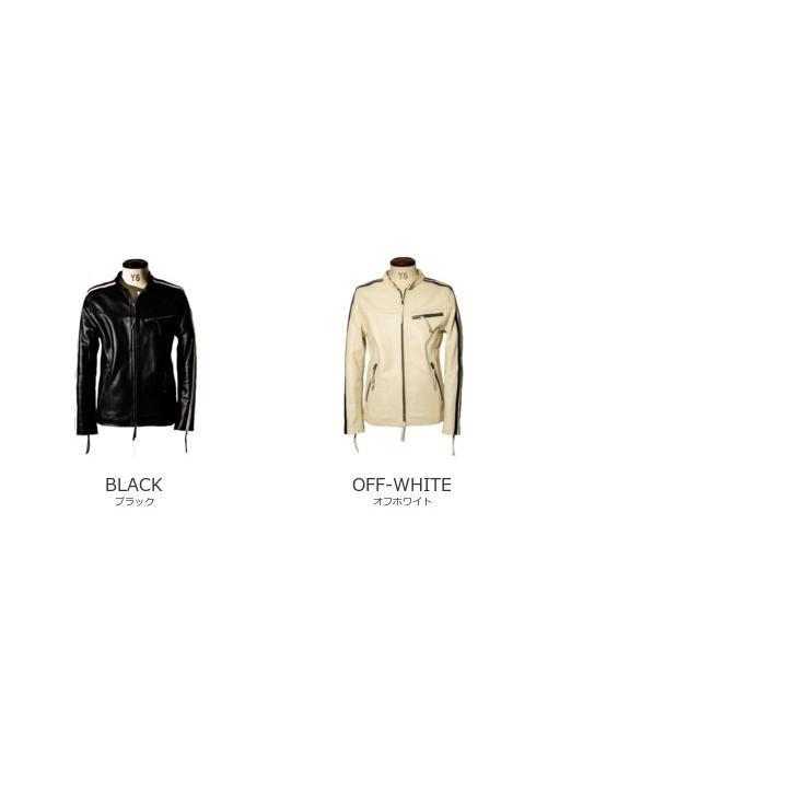 Liugoo Leathers 本革 メッシュレザー 2ラインシングルライダースジャケット メンズ リューグーレザーズ SRS04B  シングルライダース ライダースジャケット 黒|liugoo|20