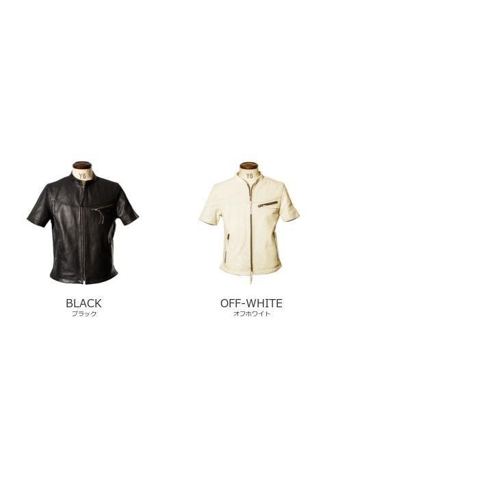 Liugoo Leathers 本革 メッシュレザーTシャツ メンズ リューグーレザーズ SSL02A  シングルライダース ライダースジャケット レザージャケット 革ジャン 黒 liugoo 18