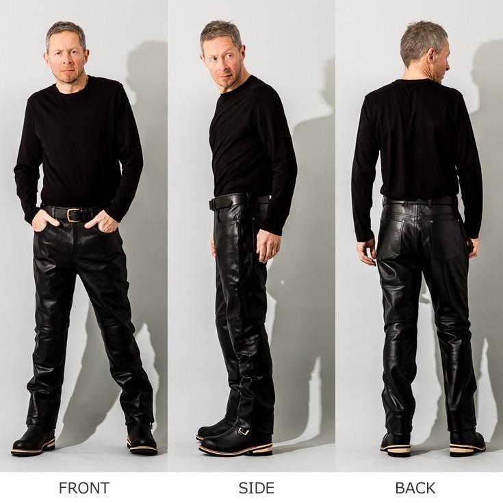 Liugoo Leathers 本革 メッシュレザーパンツ レギュラーフィット メンズ リューグーレザーズ STP04B  レザーパンツ 本革パンツ 本皮パンツ ライダースパンツ 黒|liugoo|18
