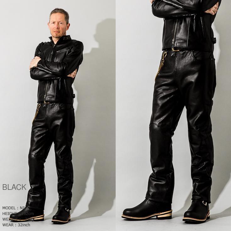 Liugoo Leathers 本革 メッシュレザーパンツ レギュラーフィット メンズ リューグーレザーズ STP04B  レザーパンツ 本革パンツ 本皮パンツ ライダースパンツ 黒|liugoo|07