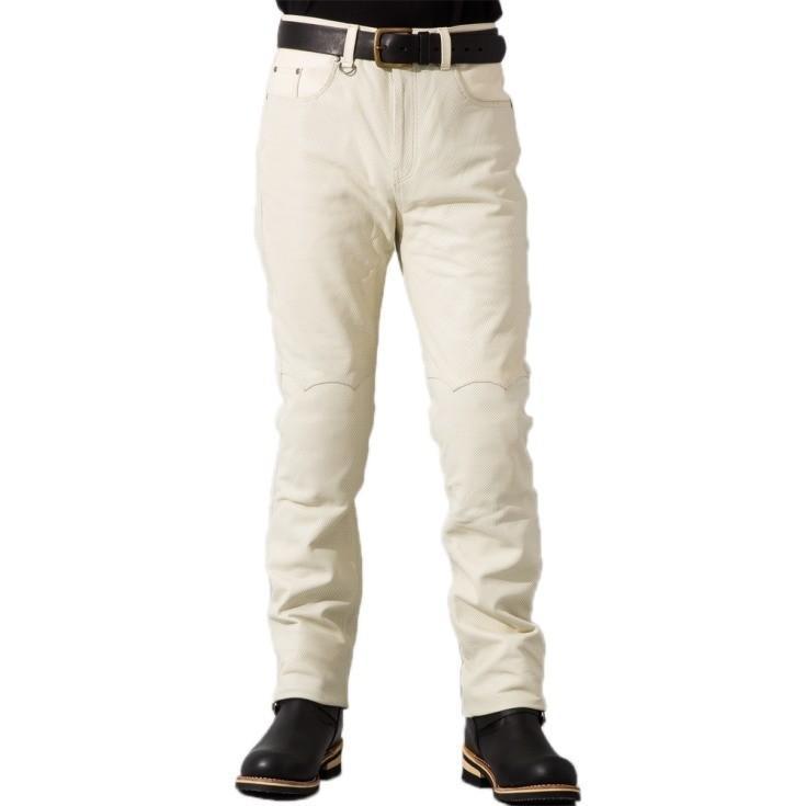 Liugoo Leathers 本革 メッシュレザーパンツ レギュラーフィット メンズ リューグーレザーズ STP04B  レザーパンツ 本革パンツ 本皮パンツ ライダースパンツ 黒 liugoo 15