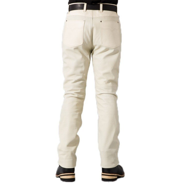 Liugoo Leathers 本革 メッシュレザーパンツ レギュラーフィット メンズ リューグーレザーズ STP04B  レザーパンツ 本革パンツ 本皮パンツ ライダースパンツ 黒 liugoo 16
