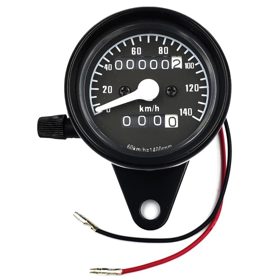 スピードメーター 機械式 12V ハイクオリティ バイク用 汎用 メーター h トリップメーター 出色 金属製 オドメーター 最大速度表示140
