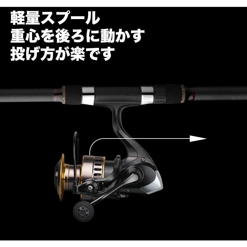 スピニングリール 1000~7000 軽量 淡水釣り 海釣り 海水 淡水 ギア比5.2:1 最大ドラグ力10KG 左右交換可能 耐久性 EVA ハンドルノブ 投げ釣り|livekurashi|09
