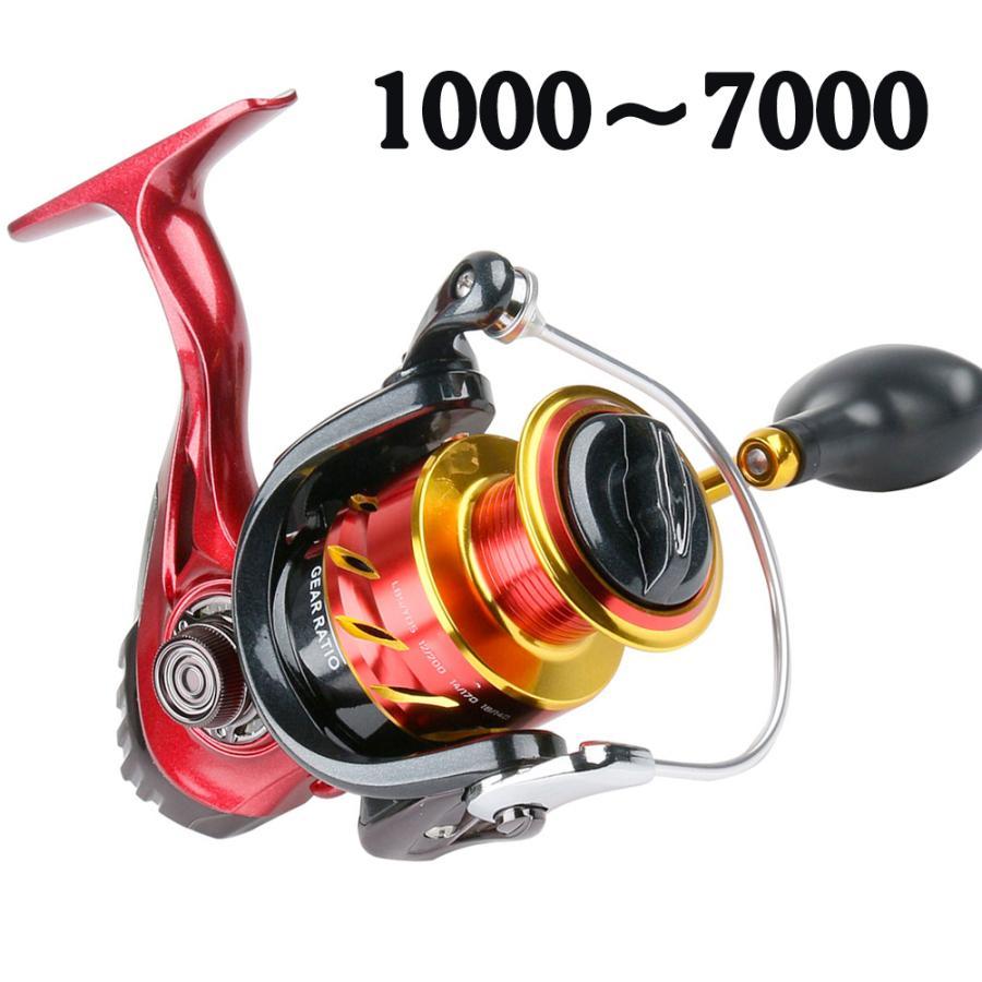 スピニングリール 新作入荷!! 1000〜7000番 釣りリール リール 軽量 最大ドラグ力12.5kg 左右交換ハンドル交換可能 市販 淡水 海水 両用 遠投