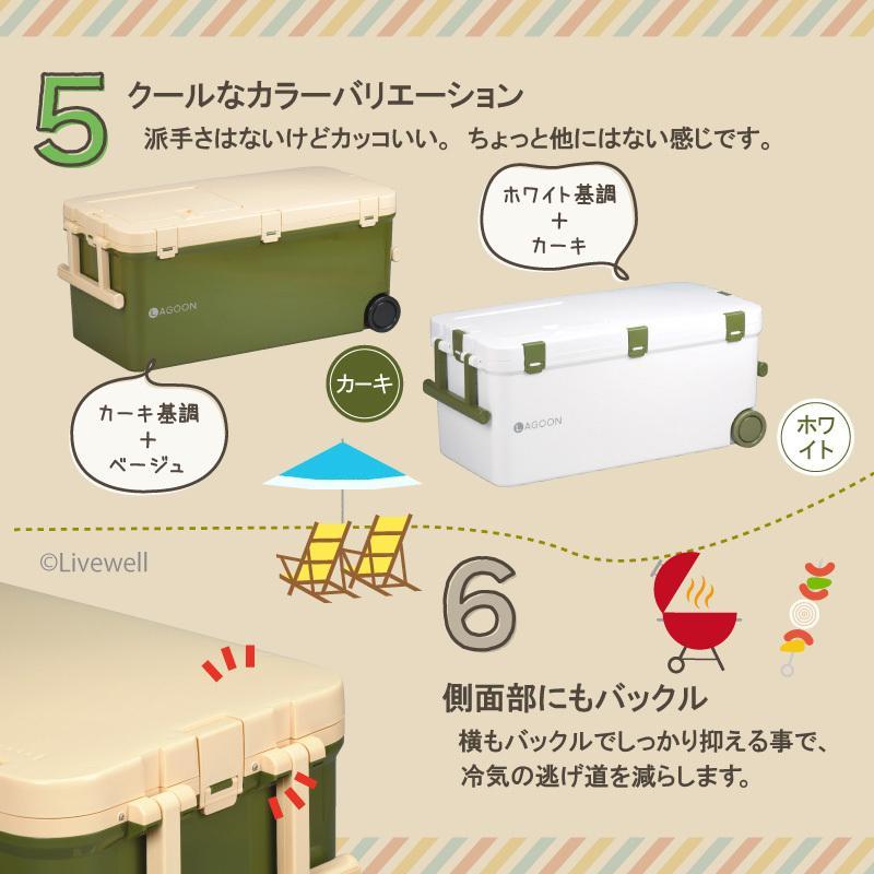 クーラーボックス 大型 保冷力 45L 釣り おしゃれ ラグーン45 日本製|livewell|06