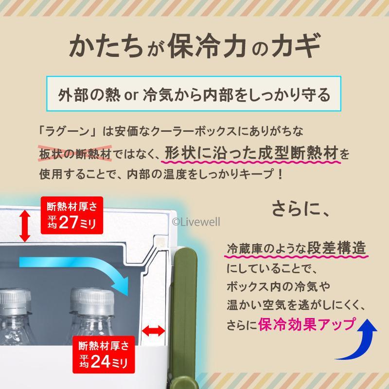 クーラーボックス 大型 保冷力 45L 釣り おしゃれ ラグーン45 日本製|livewell|07
