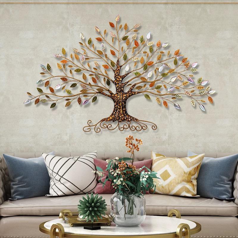 壁飾り アイアン  壁掛け インテリア 木 アートパネル ウォールデコレーション おしゃれ かわいい ウォールパネル アイアンの壁飾り カラフルツリー