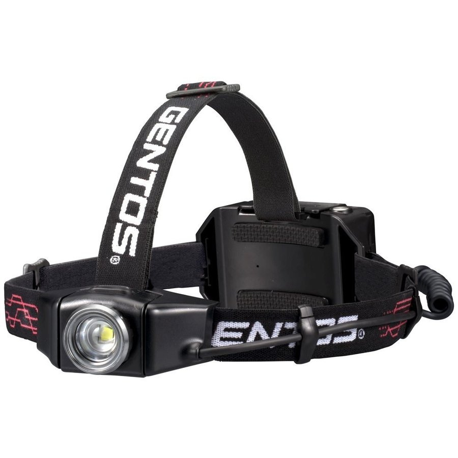 GENTOS 充電式ヘッドライト セール特価品 GH-003RG 500ルーメン 点灯12時間 メーカー5年保証 限定品 日本正規品 耐水 乾電池兼用 耐塵