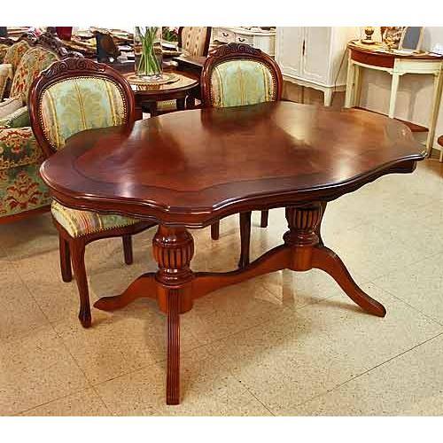 イタリア製 輸入家具 美しい木目のダイニングテーブルセット Brogiato ブロジャート社 4人用 変形だ円150cm 1323mxgr 送料無料