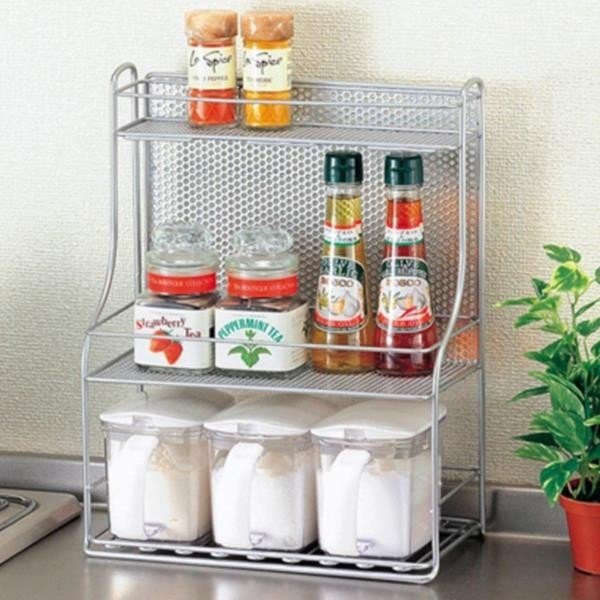 調味料ラック キッチン収納 調味料ケース H-7487 絶品 Kストレージ 調味料スタンド3段 AP 毎日がバーゲンセール