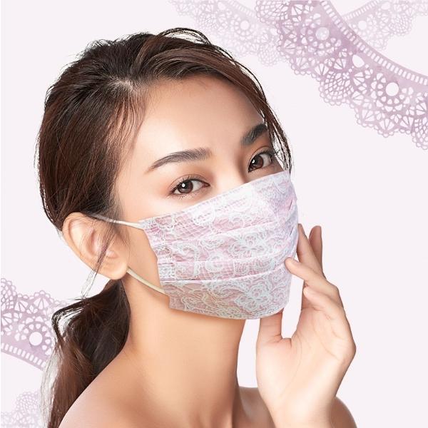 【2個セット】マスクセレブYU・RI・KO(プリーツ型不織布マスク)5枚入 ミディアムサイズ コーラルピンク ×2点「衛生商品のためキャンセル不可」|livingshop-akiyama|02