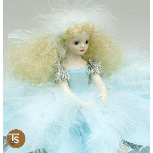若月まり子作品 エルフィンフローリー 雪の精 エルフィンフローリー 創作人形(ビスクドール)a-049