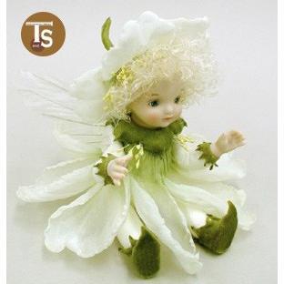 若月まり子作品 リトル・エルフィン カタローナ・ローズ(オフ・ホワイト)創作人形(ビスクドール)出産祝いギフト c-023-4