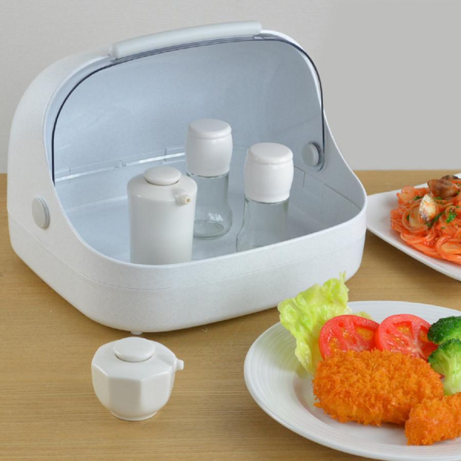 調味料ケース 卓上フード付きケース 受注生産品 大 プラスチック製 卓上収納 キッチン収納 フード付きケース 限定モデル