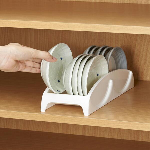 ディッシュラック プラスチック製 記念日 小皿用 卸直営 直径12cmまで対応 皿スタンド 食器ラック ディッシュスタンド 食器立て