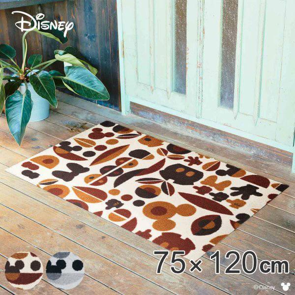 玄関マット 屋内・屋外兼用 ミッキー&ミニー モチーフ 75×120cm ( 玄関 マット ディズニー )