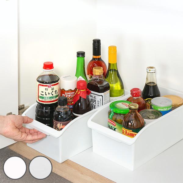売り込み キッチン収納ケース ストックボックス コロ付き 幅19.1cm 整理ケース シンク下ボックス クリア ご注文で当日配送 収納ボックス