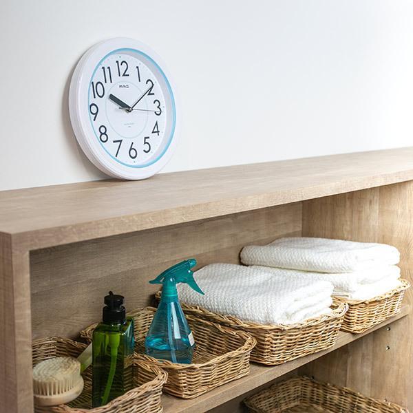 掛け時計 防水掛時計 アクアガード アナログ 時計 壁掛け時計 インテリア 在庫一掃売り切りセール 雑貨 市場