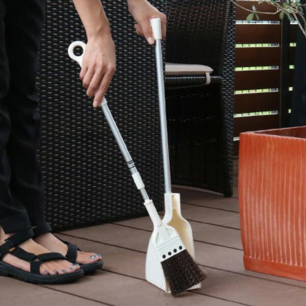 交換無料 ほうき 柄付き ちりとり セット ベランダ用 伸縮 屋外 掃除 コンパクト 溝 箒 排水口 人気の製品 チリトリ