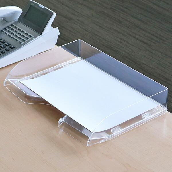 返品不可 卓上トレー デラックスA4 横 激安通販ショッピング 卓上収納 書類 引き出し 書類ケース