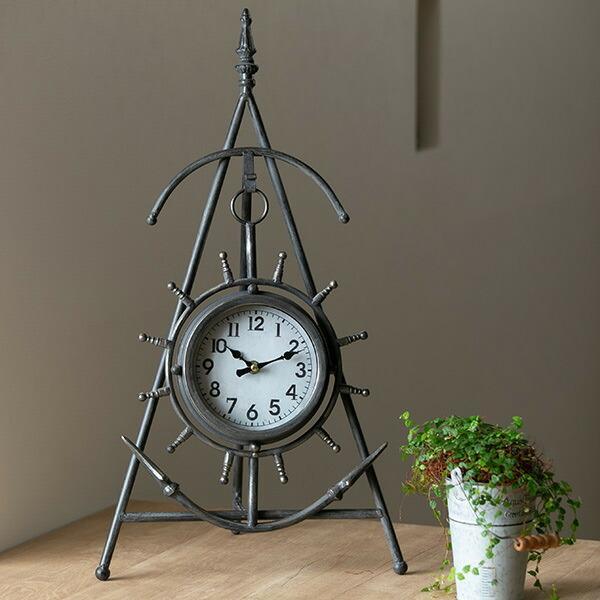 置き時計 スタンドクロック 碇 アナログ インテリア 壁掛け時計 蔵 時計 おトク