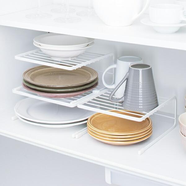 食器スタンド ディッシュラック 3段 ファビエ 食器立て 百貨店 皿立て 限定特価 食器棚収納