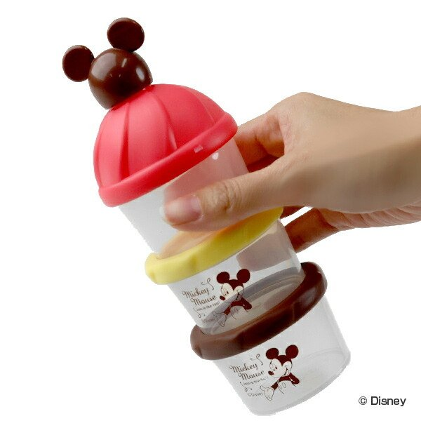 ミルクケース ミッキーマウス 3回分 日本製 デポー 小分けケース 80ml 持ち運び 容器 プロテイン 小分け 新作からSALEアイテム等お得な商品 満載 粉ミルク ケース