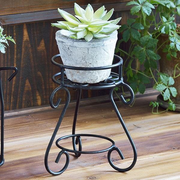 フラワースタンド ココハル カールスタンド 最新 SALE 花台 鉢置き 高さ18cm