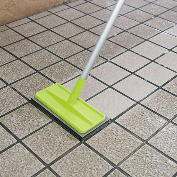 外壁 玄関 ブラッシングスポンジ 伸縮柄 タイル ブラシ 至上 デッキブラシ 掃除 床ブラシ 壁 スポンジ 激安超特価 屋外 タイルブラシ 外