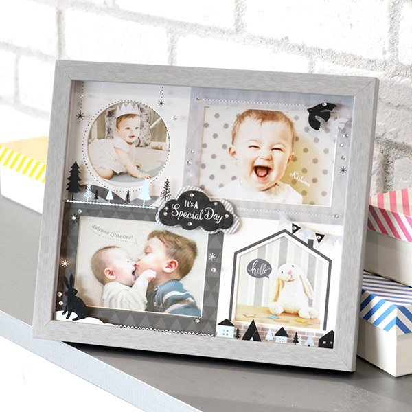 フォトフレーム 壁掛け L判 4枚 赤ちゃん NORD AMICA 写真立て Lサイズ 多面 壁掛 フォト ベビー フレーム 品質保証 子供 ついに入荷 卓上
