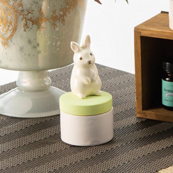 アロマストーン うさぎ 動物 無料 陶器 誕生日/お祝い アロマポット 芳香剤 石 アロマ セラミック