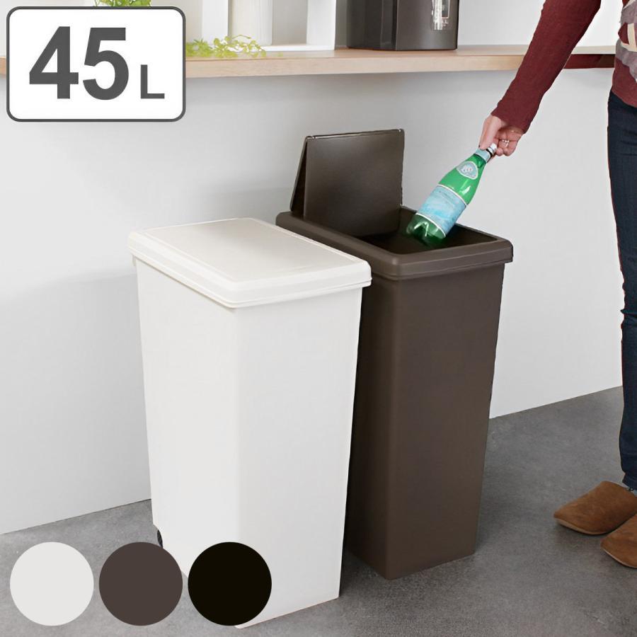 ゴミ箱 45L 分別 ふた付き スライドペール 45リットル 45リトッル キッチン 高級 ダストボックス 海外輸入 スライド キャスター ごみ箱