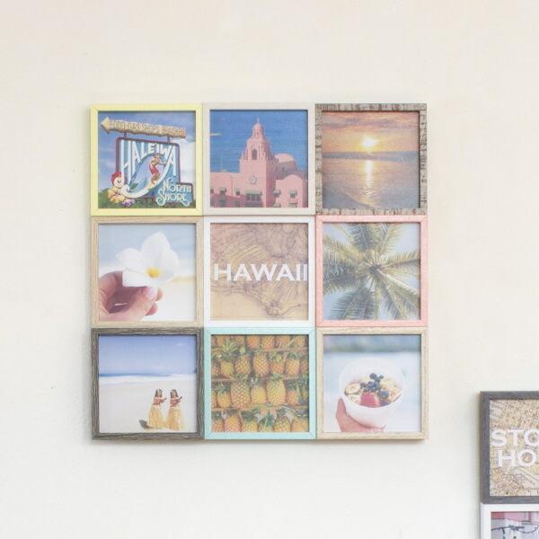フォトフレーム 多面 9枚 壁掛け 卓上 写真立て フォトスタンド インスタコラージュ 写真フレーム 限定タイムセール 写真たて 低廉 ブリストル