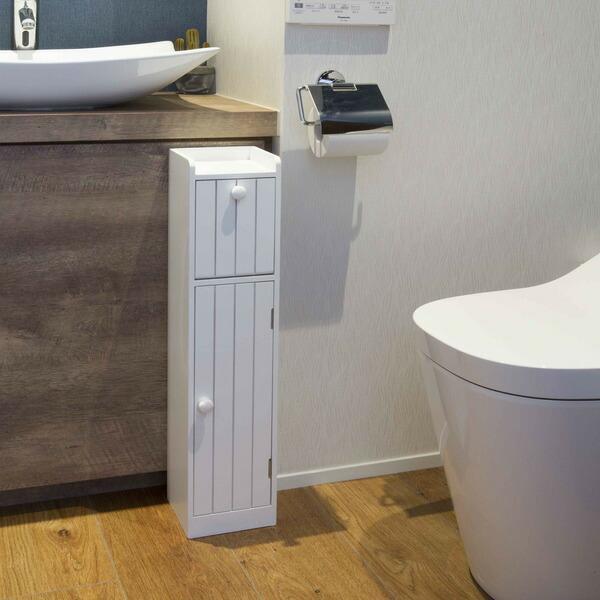 トイレ収納 コンパクトトイレラック スリム トイレ収納棚 定番 トイレ収納ラック トイレ 飾り ラック 棚 サニタリーボックス 掃除用具 ショップ 収納