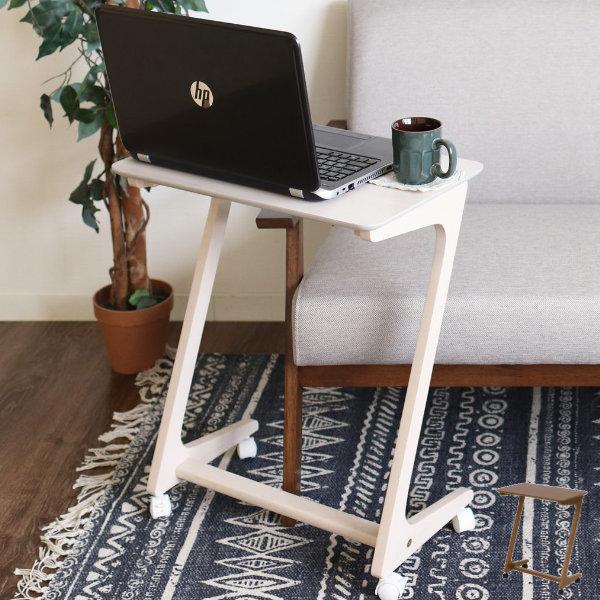 サイドテーブル 幅50cm キャスター付き 今だけ限定15%OFFクーポン発行中 木製 木目 大放出セール 作業台 ソファサイド つくえ 移動 テーブル ベッドサイドテーブル デスク 机 ナイトテーブル