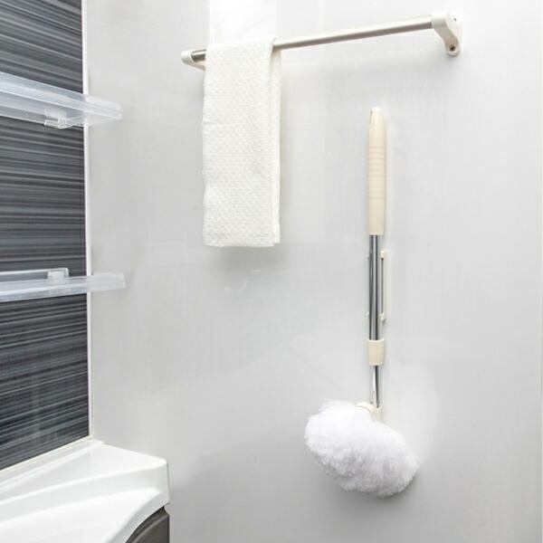 バスブラシ 柄付き ブラシ 洗剤不要 浴室 発売モデル 浴室掃除 通常便なら送料無料 マグネット そうじ 清掃 磁石 掃除 お風呂掃除