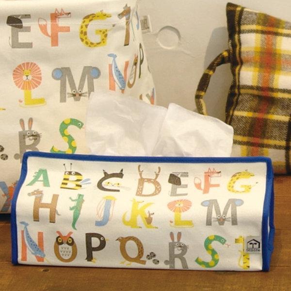 ティッシュケース アンファン アルファベット 保障 tente 吊り下げ 有名な ティシュ入れ ティッシュカバー 布製 ティッシュボックス