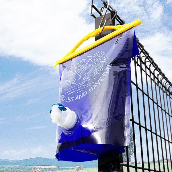 ウォータータンク 3L 折りたたみ ウォーターバッグ ( イワタニ 岩谷マテリアル 給水袋 蛇口付き 軽量 大口径 水袋 )|livingut|18