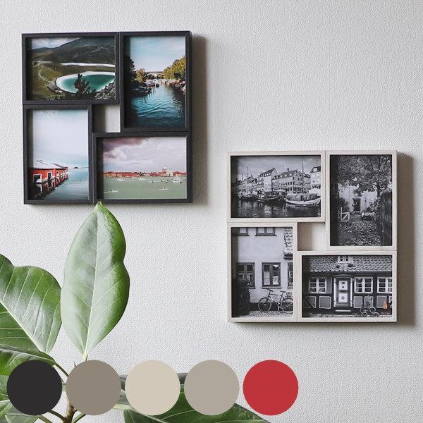 フォトフレーム 4枚 多面 壁掛け 卓上 写真たて 4面 写真フレーム フォトスタンド 写真立て 日時指定 新品